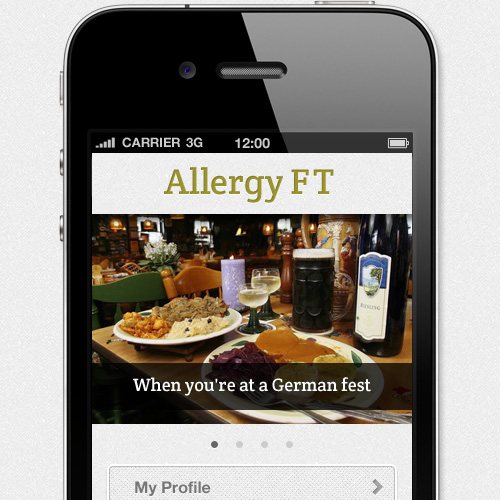 Allergy ft food allergy app home screen forumfinder Choice Image